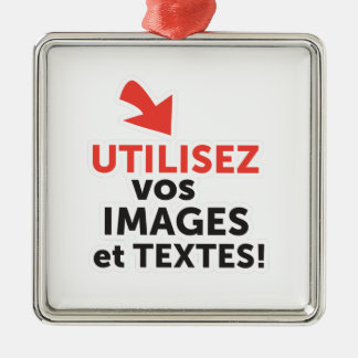 Ornement Carré Argenté Les vos d'Imprimer conçoit en Français du ligne