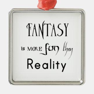 Ornement Carré Argenté L'imaginaire est plus d'amusement que la réalité
