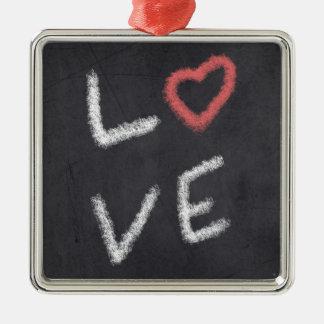 Ornement Carré Argenté Love