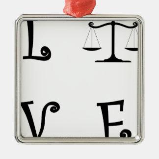 ORNEMENT CARRÉ ARGENTÉ LOVE25