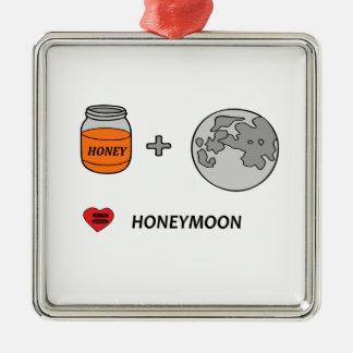 Ornement Carré Argenté lune de miel
