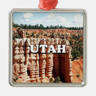 Ornement Carré Argenté L'Utah : Parc national de canyon de Bryce