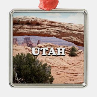 Ornement Carré Argenté L'Utah : Voûte de MESA, parc national de