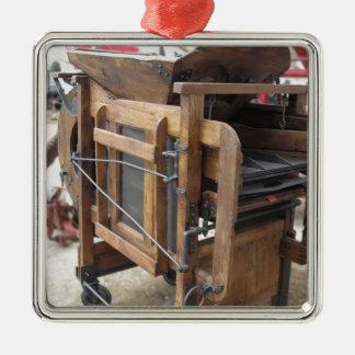 Ornement Carré Argenté Machine manuelle utilisée pour écosser le maïs