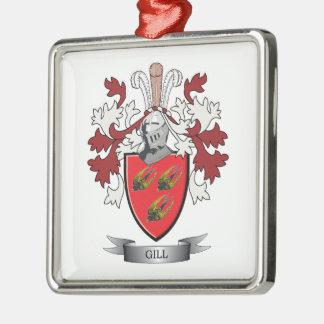 Ornement Carré Argenté Manteau de crête de famille d'ouïe des bras