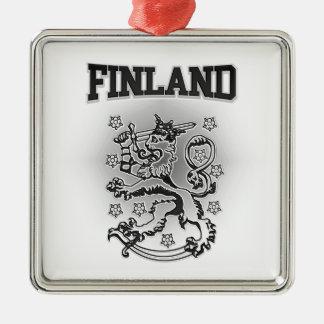 Ornement Carré Argenté Manteau de la Finlande des bras