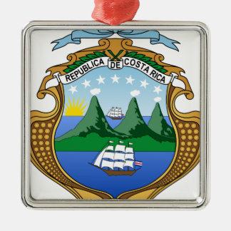 Ornement Carré Argenté Manteau des bras du Costa Rica - escudo De Costa