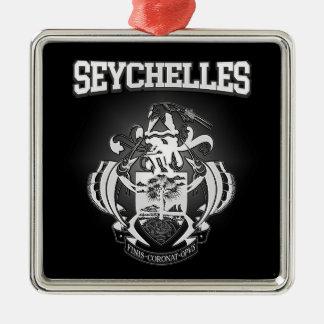 Ornement Carré Argenté Manteau des Seychelles des bras
