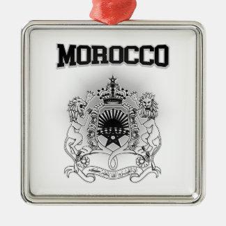 Ornement Carré Argenté Manteau du Maroc des bras