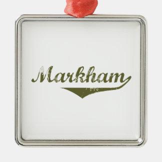 Ornement Carré Argenté Markham