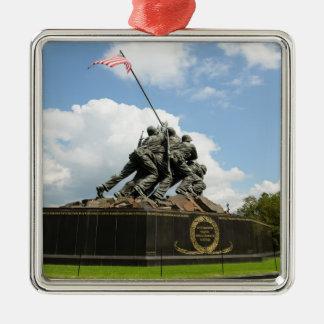 Ornement Carré Argenté Mémorial d'Iwo Jima dans le Washington DC