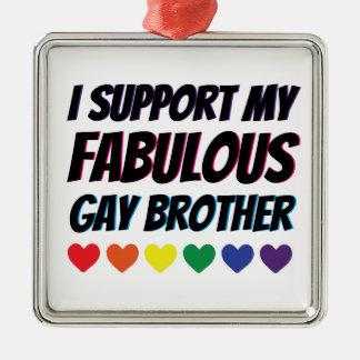 Ornement Carré Argenté Mon appui gai fabuleux de frère