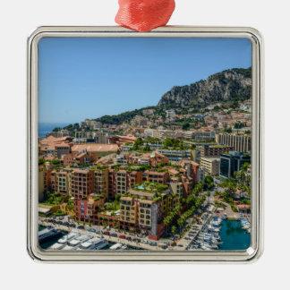 Ornement Carré Argenté Monte Carlo Monaco