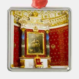 Ornement Carré Argenté Musée d'ermitage d'état St Petersburg Russie