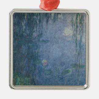 Ornement Carré Argenté Nénuphars de Claude Monet | : Saules pleurants,