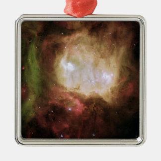 Ornement Carré Argenté NGC 2080 la nébuleuse de tête de fantôme