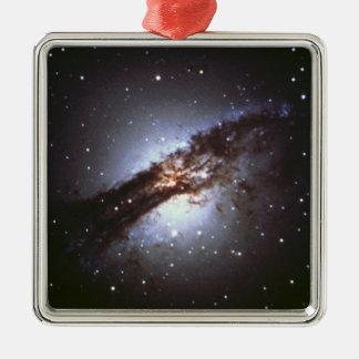 Ornement Carré Argenté NGC 5128 Centaurus une NASA de galaxie