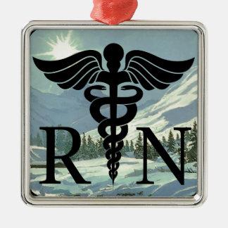 Ornement Carré Argenté No. de luxe 1 d'ornement d'infirmier autorisé