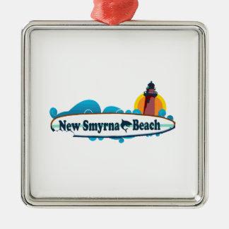 Ornement Carré Argenté Nouvelle plage de Smyrna
