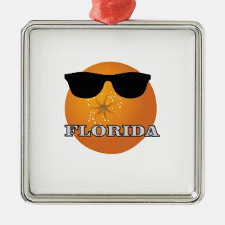 Ornement Carré Argenté nuances de la Floride