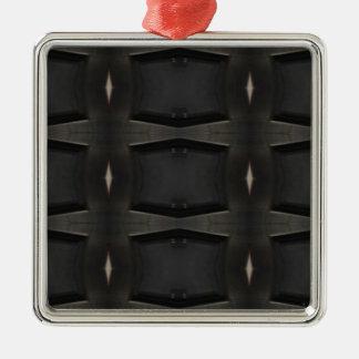 Ornement Carré Argenté Nuances de motif classique gris de charbon de bois