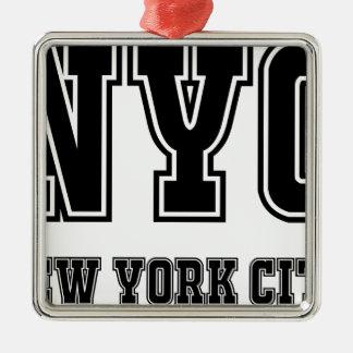 Ornement Carré Argenté NYC New York City