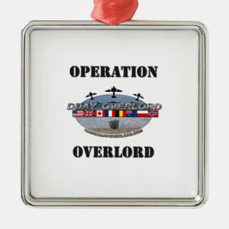 Ornement Carré Argenté Operation Overlord 1944