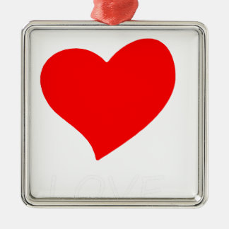 Ornement Carré Argenté paix love4