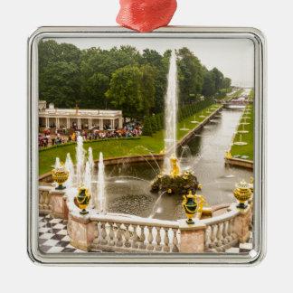 Ornement Carré Argenté Palais et jardins St Petersburg Russie de Peterhof