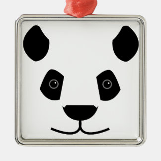 Ornement Carré Argenté Panda