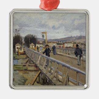 Ornement Carré Argenté Passerelle d'Alfred Sisley | à Argenteuil
