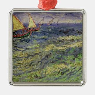 Ornement Carré Argenté Paysage marin de Vincent van Gogh | chez