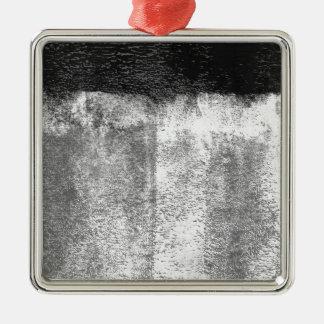 Ornement Carré Argenté Peinture roulée par noir