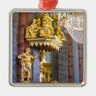 Ornement Carré Argenté Peter et forteresse St Petersburg Russie de Paul