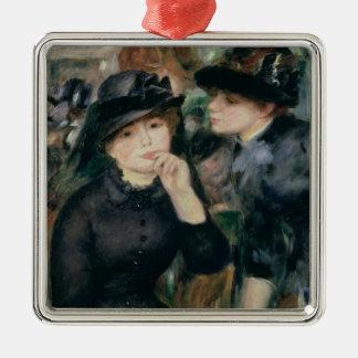 Ornement Carré Argenté Pierre filles de Renoir un | dans le noir