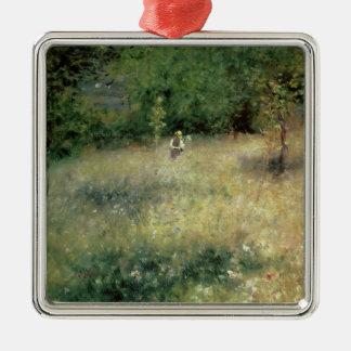 Ornement Carré Argenté Pierre par ressort de Renoir | chez Chatou