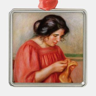 Ornement Carré Argenté Pierre raccommoder de Renoir | Gabrielle