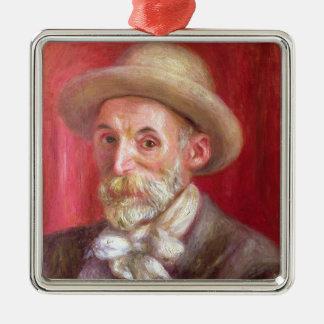 Ornement Carré Argenté Pierre un autoportrait de Renoir |