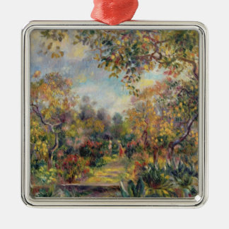 Ornement Carré Argenté Pierre un paysage de Renoir | à Beaulieu