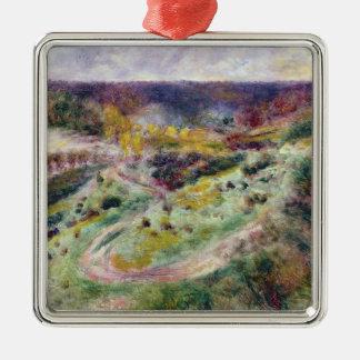Ornement Carré Argenté Pierre un paysage de Renoir | chez Wargemont