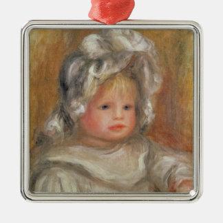 Ornement Carré Argenté Pierre un portrait de Renoir | d'un enfant
