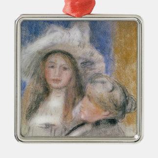 Ornement Carré Argenté Pierre un Renoir | Berthe Morisot et sa fille