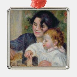 Ornement Carré Argenté Pierre un Renoir | Gabrielle et Jean
