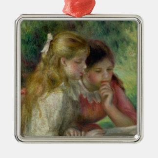 Ornement Carré Argenté Pierre un Renoir | la lecture