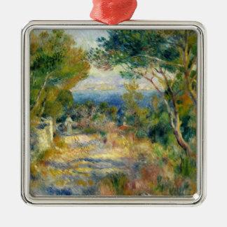 Ornement Carré Argenté Pierre un Renoir | L'Estaque