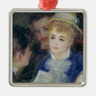 Ornement Carré Argenté Pierre un Renoir | lisant le rôle