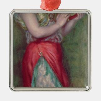Ornement Carré Argenté Pierre une fille de danse de Renoir | avec le