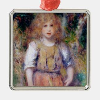 Ornement Carré Argenté Pierre une fille gitane de Renoir |