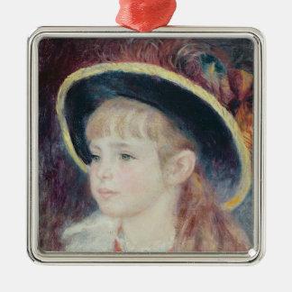 Ornement Carré Argenté Pierre une jeune fille de Renoir | dans un