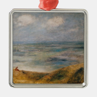 Ornement Carré Argenté Pierre une vue de Renoir | de la mer, Guernesey